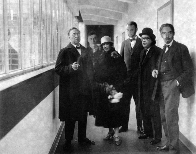 Vassily Kandinsky with laureates of his namesake prize, collage for Artguide, by Vadim Semenov