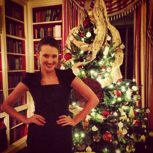 Maria Baibakova, at the White House, Washington DC, December 2012
