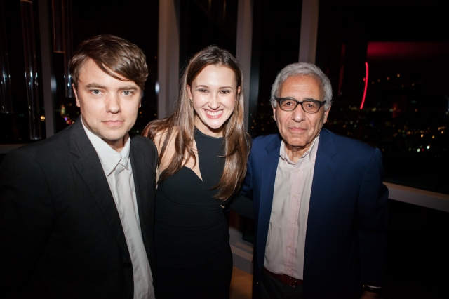 Matthew Brannon, Maria Baibakova and Lincoln Center President, Reynold Levy at the December 5 launch