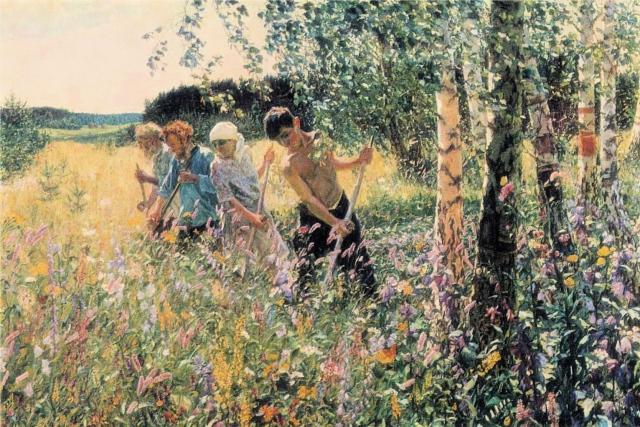 Arkady Plastov, Haymaking, 1945