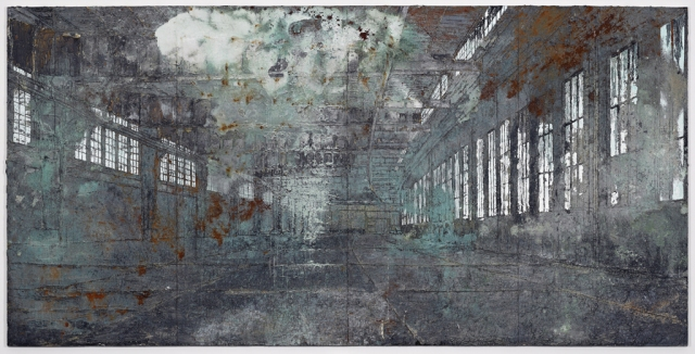 Anselm Kiefer, Tempelhof, 2011, Oil, acrylic, terracotta, lead and salt on canvas. Photograph: Ben Westoby, Courtesy of White Cube, London