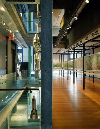 Interior of the former American Folk Art Museum, New York