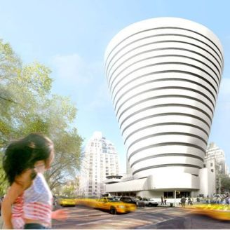 The mock-up for the Guggenheim's April Fools' announcement of a building expansion.