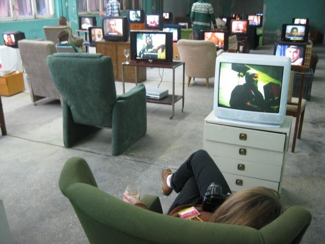 Installation view of Kutlag Ataman, Küba, 2004. Ural Biennale, Ekaterinburg, 2012.