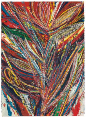 Mark Grotjahn, Untitled (Standard Lotus No. II, Bird of Paradise, Tiger Mouth Face 44.01), 2012