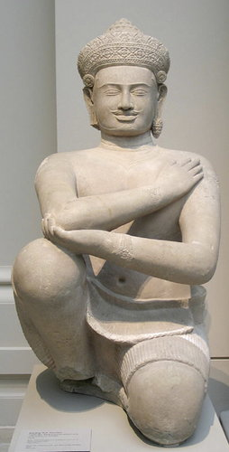 One of the Kneeling Attendants. Photo @ Metropolitan Museum of Art, New York.