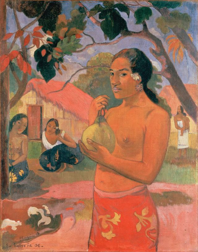 Paul Gauguin, Eu Haere ia oe (Woman with a Fruit), 1893. Part of the Morozov Collection, now at the Hermitage Museum, St Petersburg, Russia.