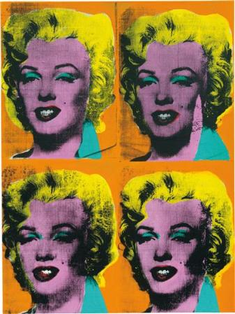 Andy Warhol, Four Marilyns, 1962