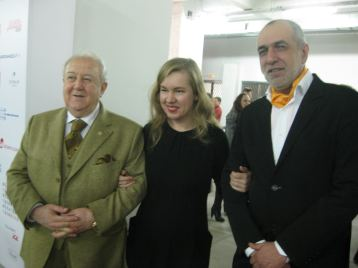 Zurab Tsereteli, Artplay director Alina Saprykina, and NCCA director Mikhail Mindlin