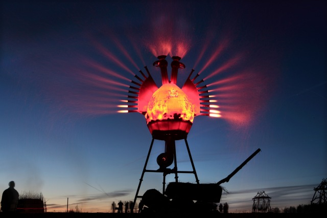 Nikolay Polissky, Firebird, 2008. Installation at Nikola-Lenivetz.