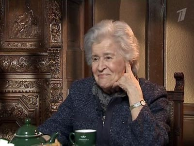 Irina Antonova, in a still from an interview with Pervyi Kanal