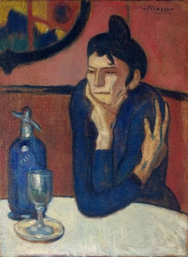 Pablo PIcasso, The Absinthe Drinker, 1901