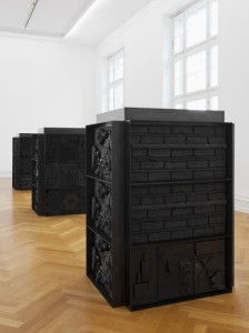 Installation view of Isabelle Cornaro's exhibition at Kunsthalle Bern, March 2013