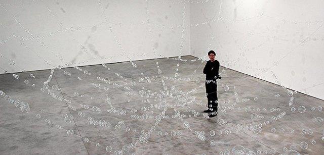 Installation view o fMona Hatoum, Web, 2006