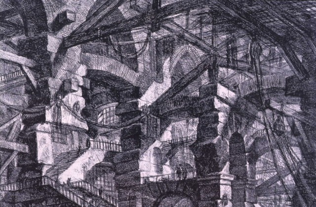 One of Piranesi's architectural drawings