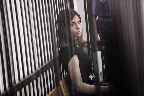Nadya Tolokonnikova at her July 2013 parole hearing. Photo Andrey Stenin, RIA Novosti.