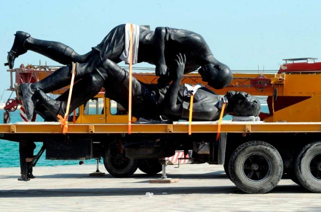 Adel Abdessemed's Coup d'etat is taken for a ride in Doha.