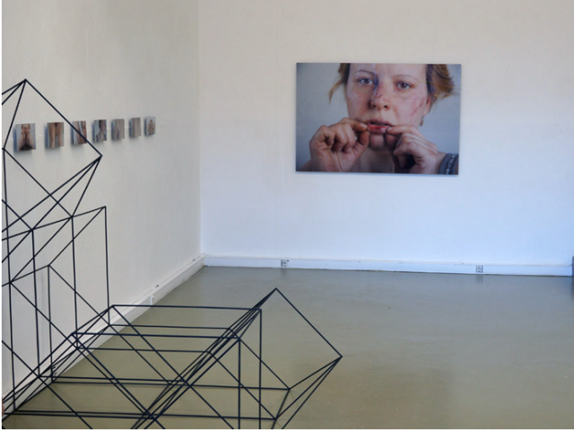 Anya Zholud, installation view of Exercise, 2013
