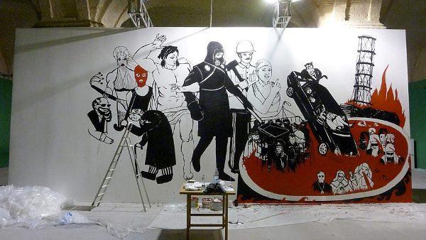 Vladimir Kuznetsov's mural, Koliivschyna: Judgement Day, 2013