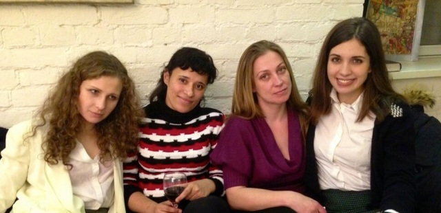 Maria Alyokhina and Nadia Tolokonnikova meet with Kira and Olga, two former prisoners