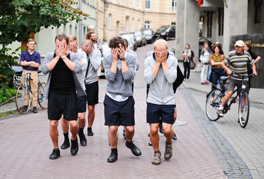 Eglé Budvytytė, Choreography for the Running Male, 2012, performance, 30 mins. Courtesy the artist.