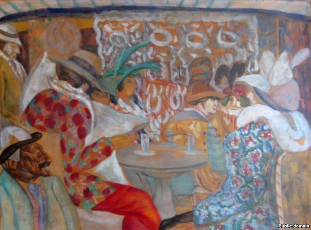 Boris Grigoriev, In the Restaurant, 1913