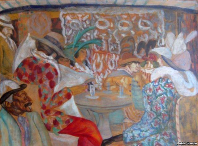 Boris Grigoriev, In the Restaurant, 1913