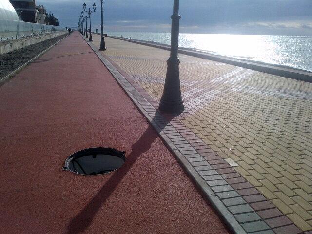 Sochi Sidewalk, taken by journalist Jo-Ann Barnas