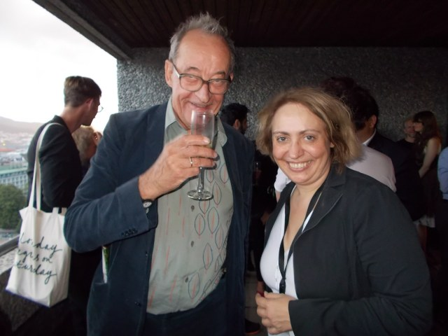 Curator Kasper Koenig with Katya Degot in Bergen, 2013. Photo Kate Sutton, courtesy of Artforum.com