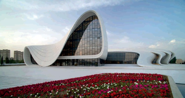 The Heydar Aliyev Center in Baku, designed by Zaha Hadid