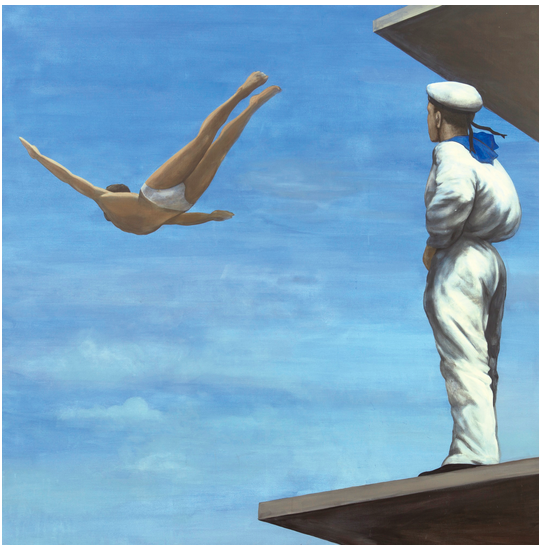 Georgy Gurianov's Dive, which sold at Sotheby's Contemporary East auction